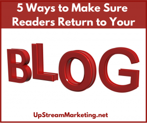 Return to your blog
