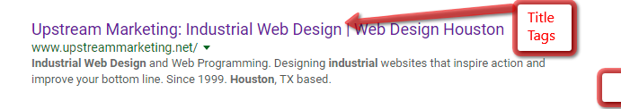 Title Tag in Web Search