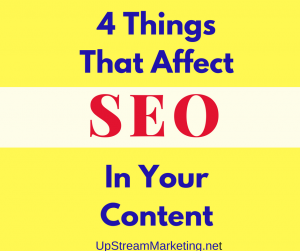 Content affects SEO