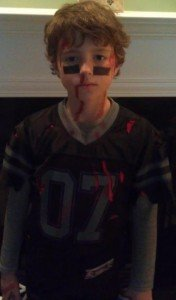 zombie attacks football player costume