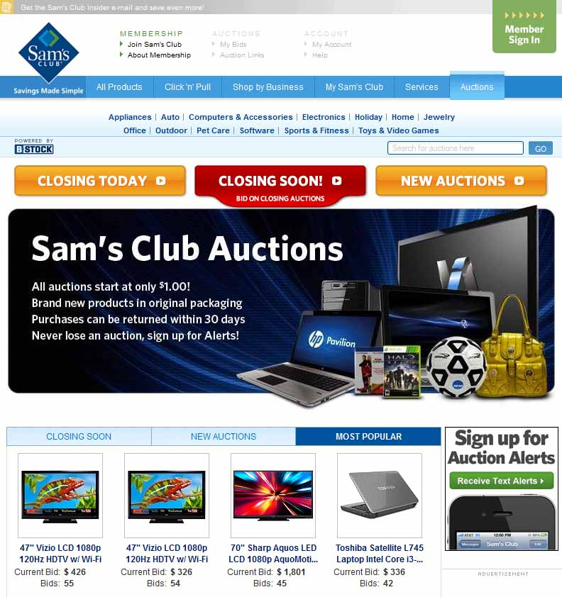 Sams Club Auction Website Design Houston Blog