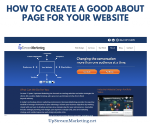 Create a good About Page