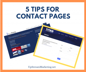 Tips for Contact Pages