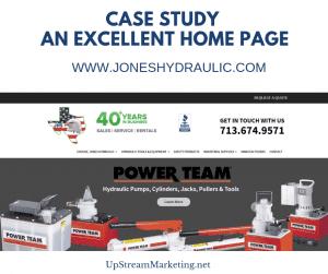 Jones Hydraulic - Home Page Case Study
