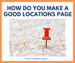 How to make a good locations page