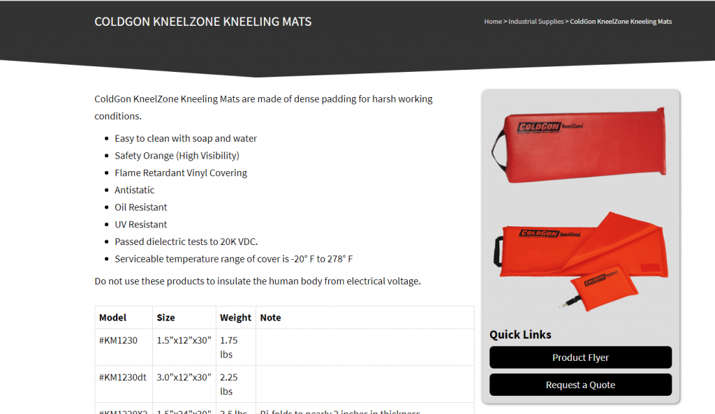 Kneeling Mats - Jones Hydraulics Manufacturing Page - Case Study