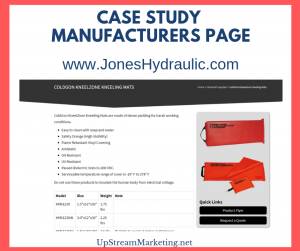 Manufacturers Page - Case Study